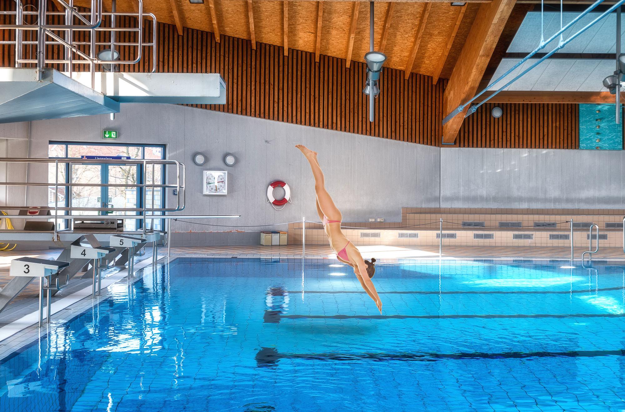Badespass mit der mobilen wasserrutsche am for Schwimmschule seligenstadt